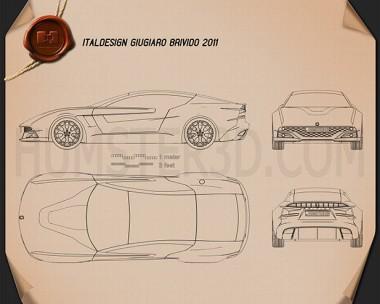 Italdesign Giugiaro Brivido 2012 Blueprint