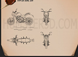 KTM 125 Duke 2011 Blueprint