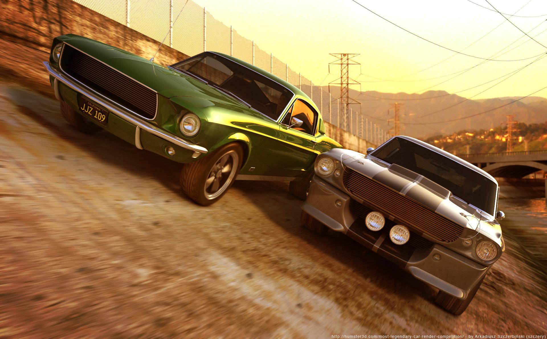 Ford Mustang GT '67 3d art