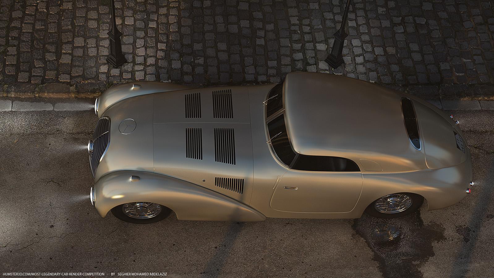 Piece of history: Mercedes-Benz 540k Streamliner 3d art