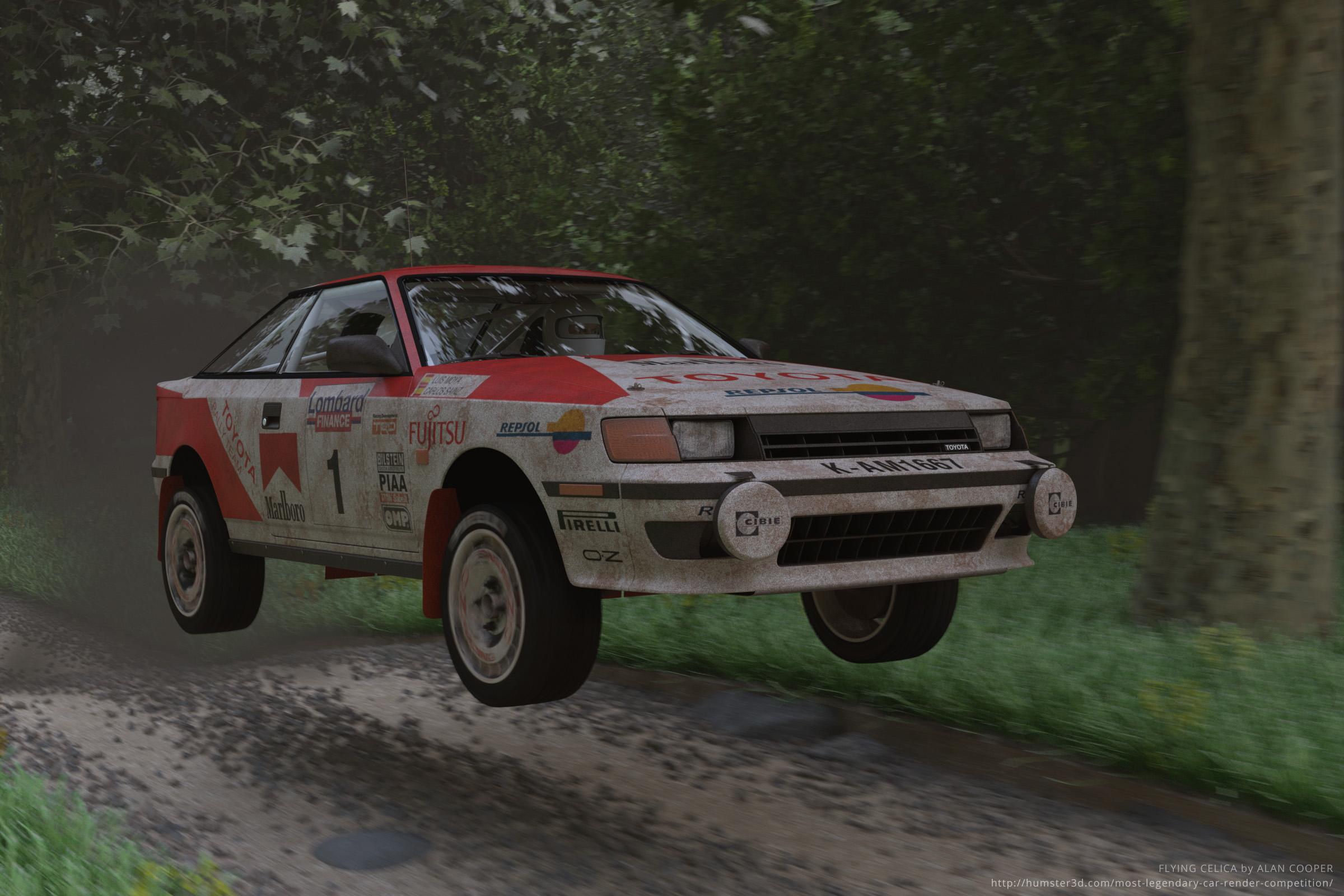 Flying Celica 3d art