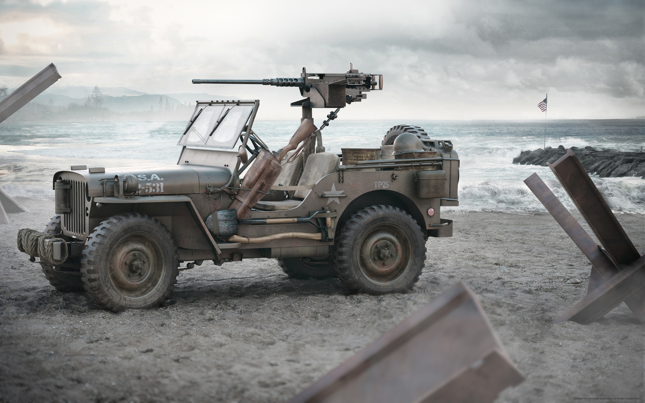 Jeep Willys 3d art
