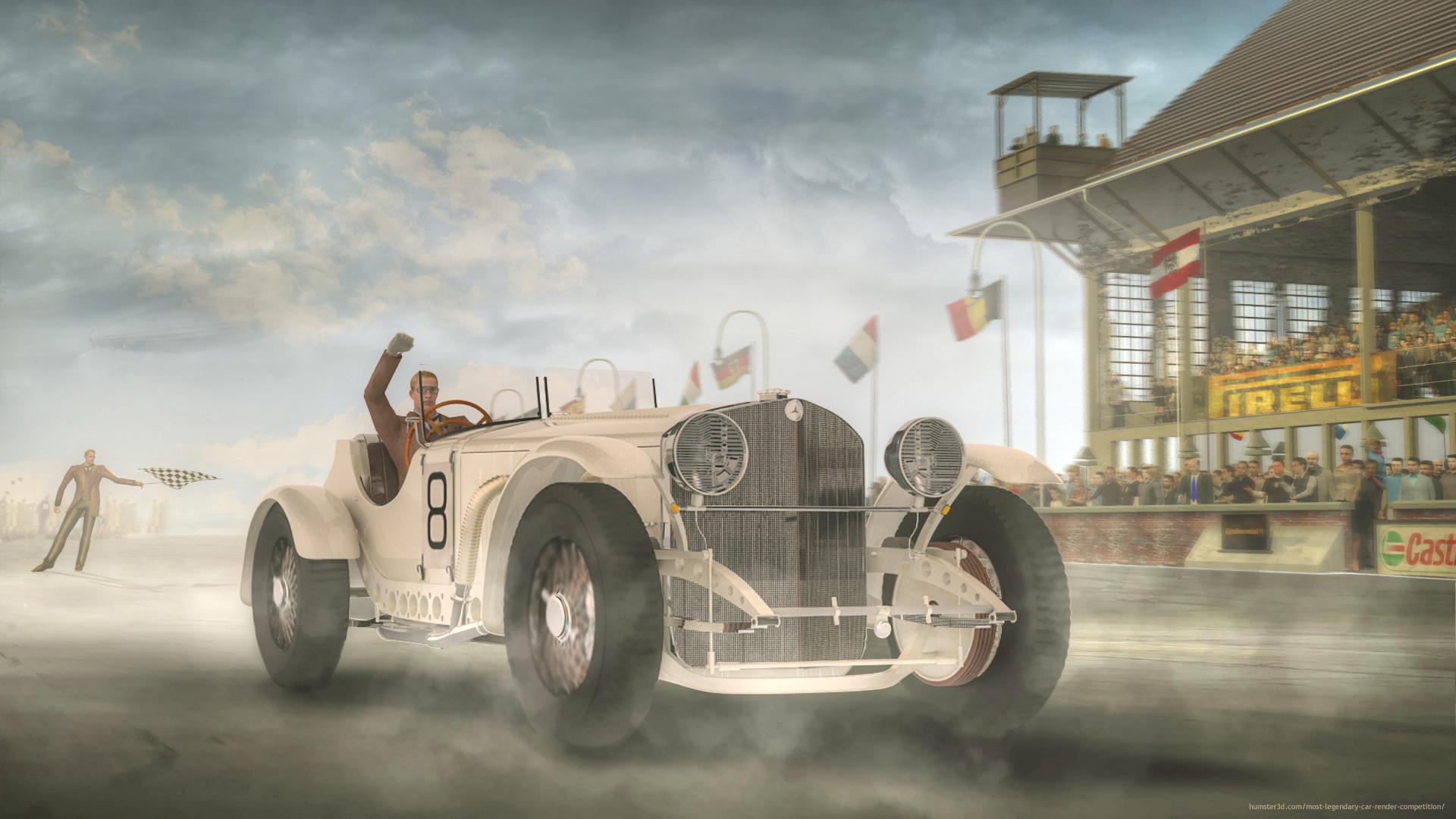 Mercedes Benz SSKL 1931 3d art