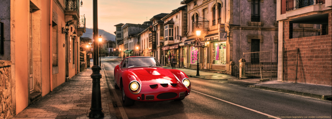 Ferrari 250 GTO 3d art