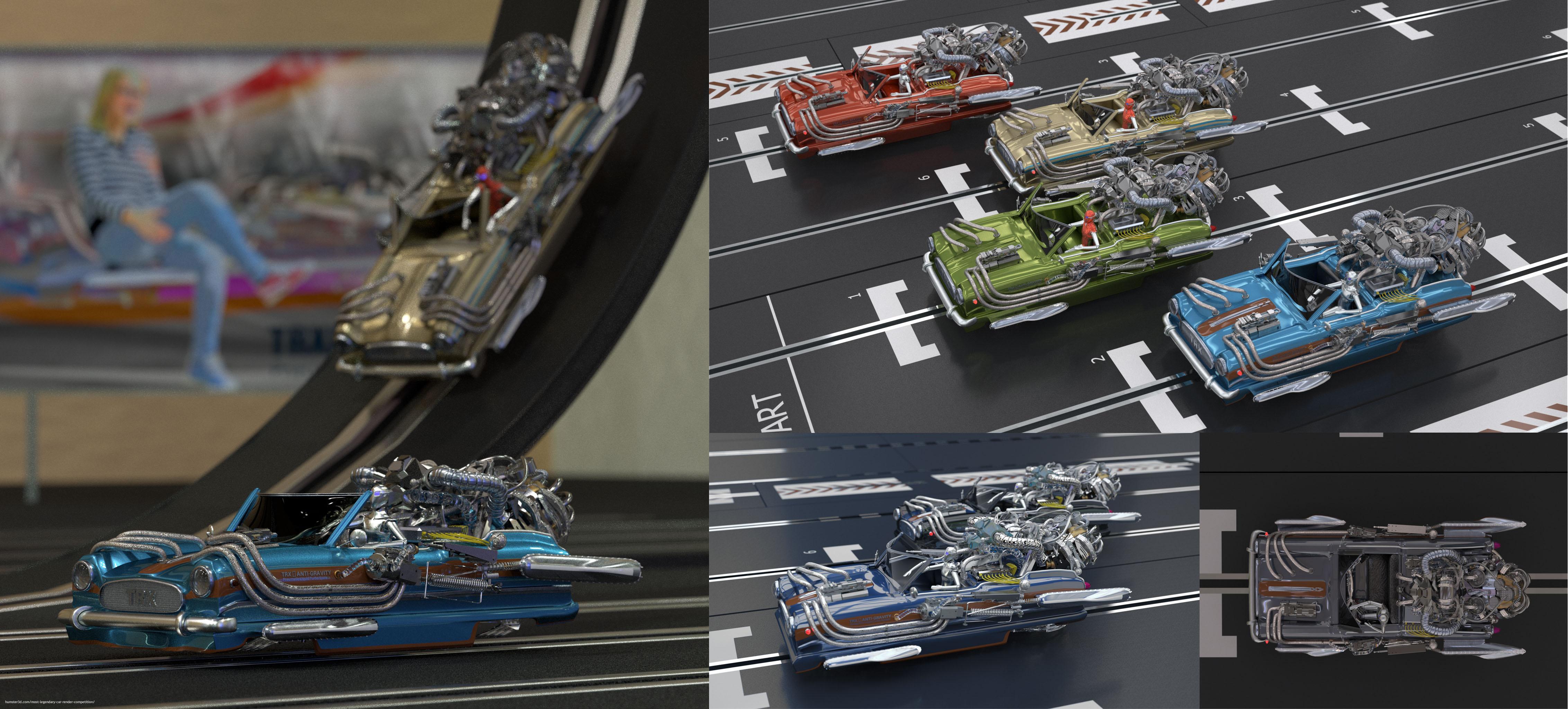 Nash Metropolitan 1500 - TRX Slot Car edit 3d art