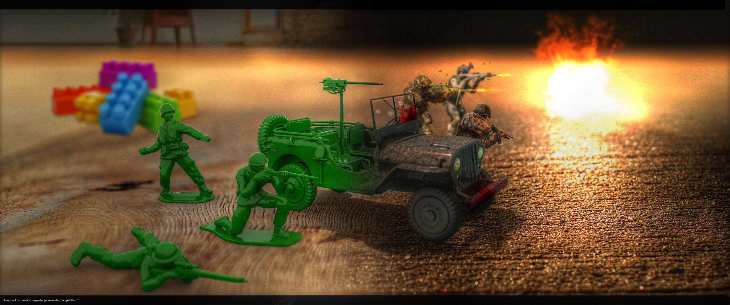 Childhood war 3d art