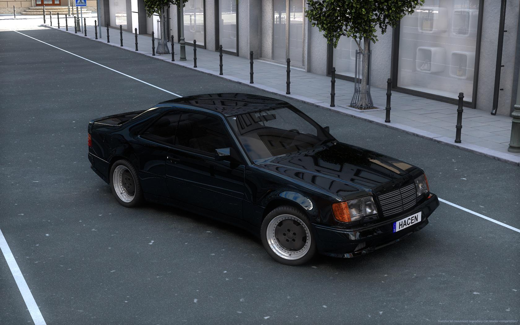 The bonding through Mercedes-Benz 3d art