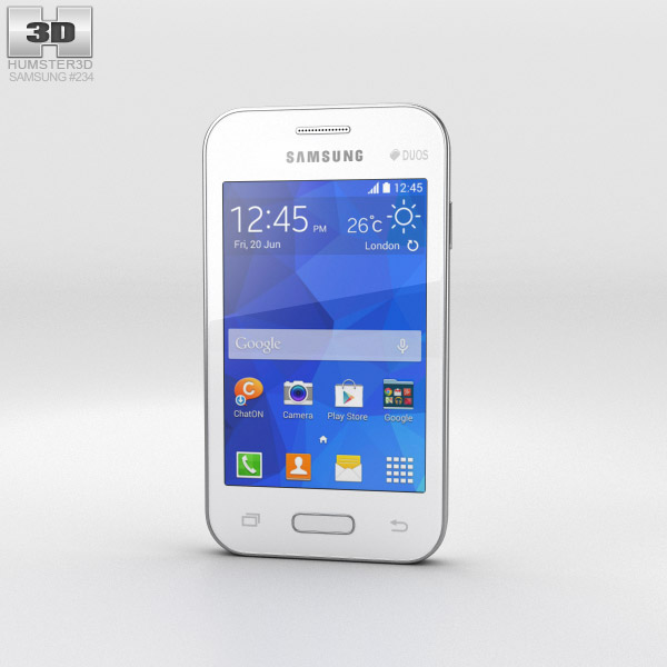 Samsung Galaxy Young 2 White 3d model