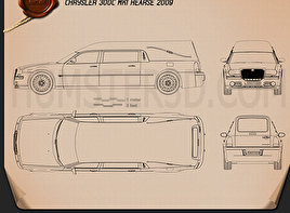 Chrysler 300C hearse 2009 Blueprint