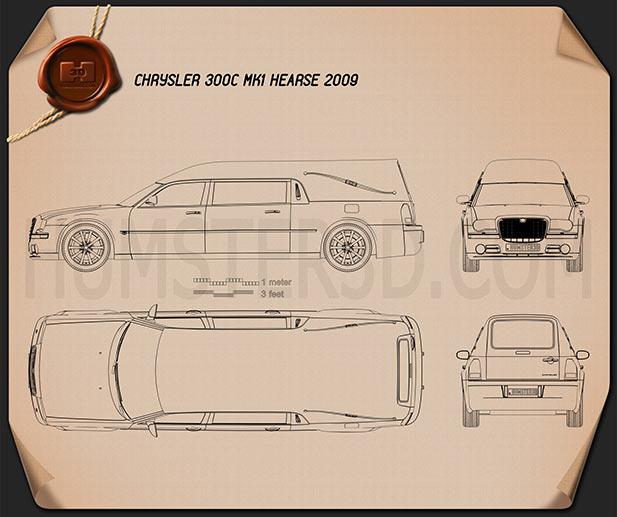 Chrysler 300C hearse 2009 Blueprint
