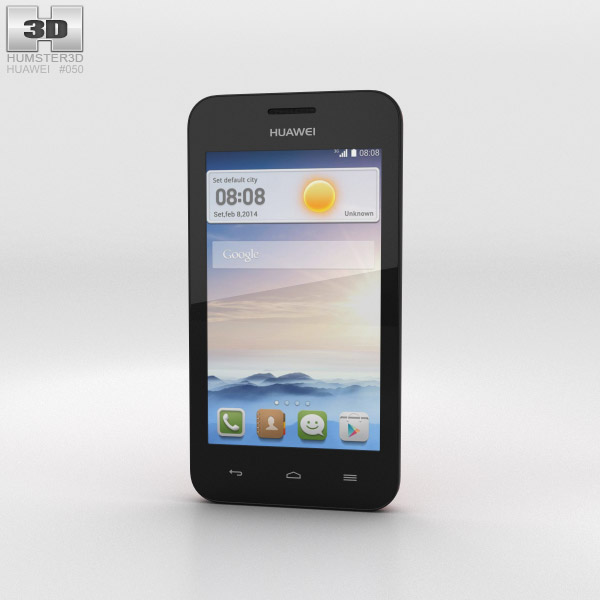 Huawei Ascend Y330 Coral Pink 3d model