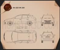 Kia Ceed SW 2011 Blueprint