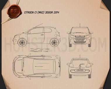 Citroen C1 3-door 2014 Blueprint