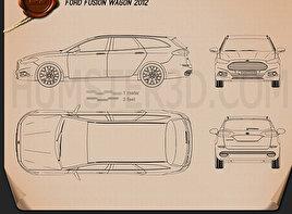 Ford Fusion wagon 2013 Blueprint