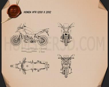 Honda VFR1200X 2012 Blueprint