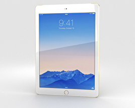 3D model of Apple iPad Air 2 Cellular 24K Gold