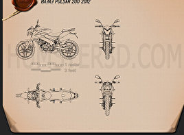 Bajaj Pulsar 200 2012 Blueprint