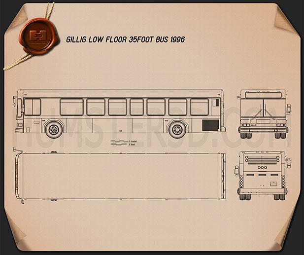 Gillig Low Floor Bus 2012 Blueprint