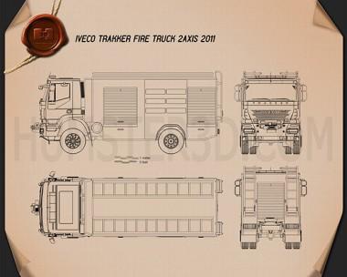 Iveco Trakker Fire Truck 2012 Blueprint