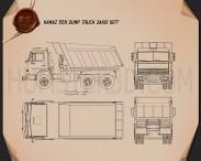 Kamaz 5511 Dump Truck 1977 Blueprint 3d model