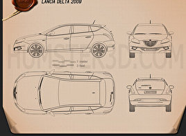 Lancia Delta 2009 Blueprint