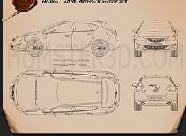 Vauxhall Astra Hatchback 5-door 2011 Blueprint