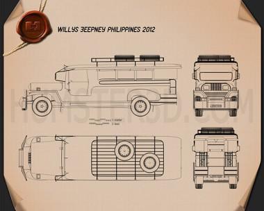 Willys Jeepney Philippines 2012 Blueprint