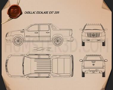 Cadillac Escalade EXT 2011 Blueprint