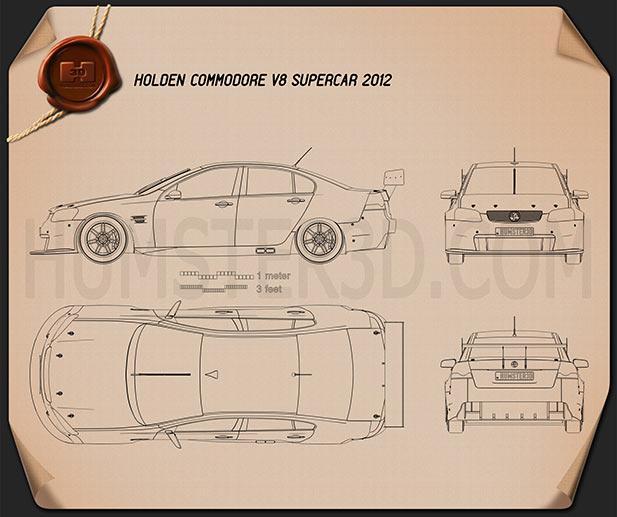 Holden Commodore V8 Supercar 2012 Blueprint