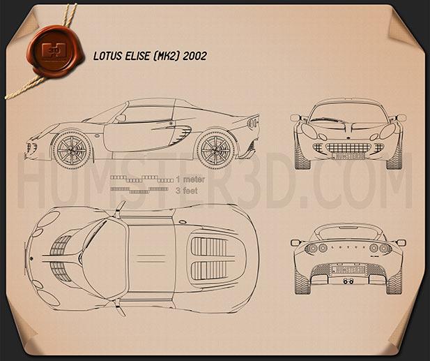 Lotus Elise 2002 Blueprint