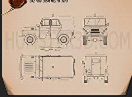 Police car blueprint 3d models download hum3d uaz 469 ussr militia 1973 blueprint malvernweather Image collections