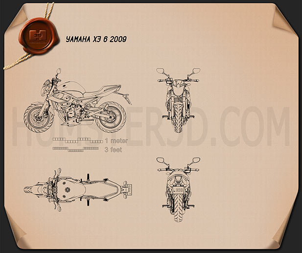 Yamaha XJ6 2009 Blueprint