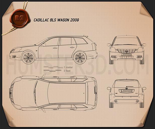Cadillac BLS wagon 2009 Blueprint