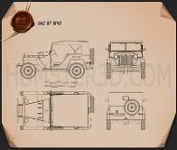 GAZ-67 1943 Blueprint