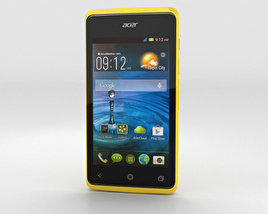 3D model of Acer Liquid Z200 Sunshine Yellow