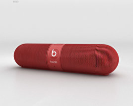 3D model of Beats Pill 2.0 Wireless Speaker Red