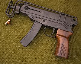 skorpion vz 61 3d model