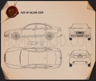 Audi A6 Saloon 2005 Blueprint