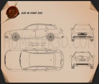 Audi A6 Avant 2012 Blueprint