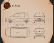Fiat Idea 2012 Blueprint 3d model