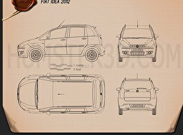 Fiat Idea 2012 Blueprint