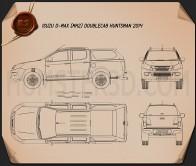 Isuzu D-Max Double Cab Huntsman 2014 Blueprint