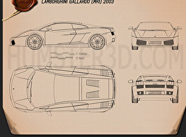 Lamborghini Gallardo 2003 Blueprint