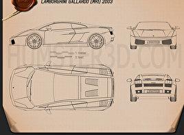 Lamborghini Gallardo 2003 Blueprint