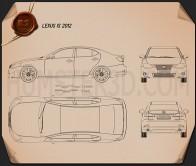 Lexus IS (XE20) 2012 Blueprint