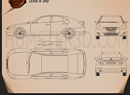 Lexus IS (XE20) 2012 Blueprint