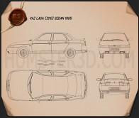 VAZ Lada 2110 sedan 1995 Blueprint