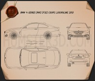 BMW 4 Series (F32) Coupe Luxury Line 2013 Blueprint