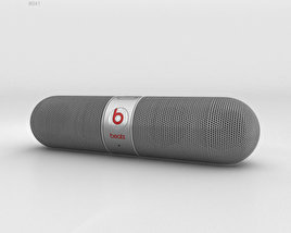3D model of Beats Pill 2.0 Wireless Speaker Silver