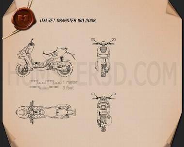 Italjet Dragster 180 2008 Blueprint